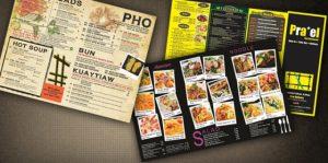 in menu nhựa