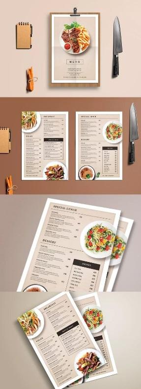 in menu đẹp sang trọng độc và lạ