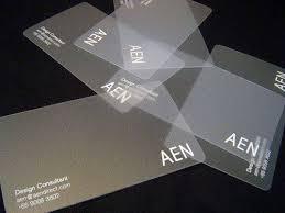 name card nhựa trong
