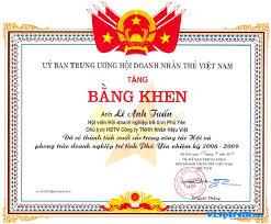 In giấy chứng nhận
