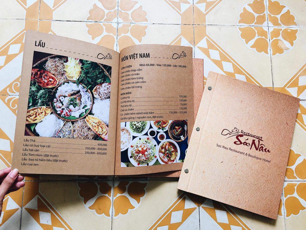 menu nhà hàng in giá rẻ