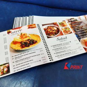 menu giấy nhựa