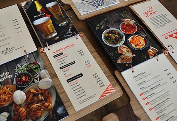 chất liệu giấy in menu
