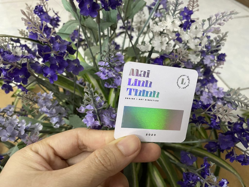 card visit giấy nhựa ép kim