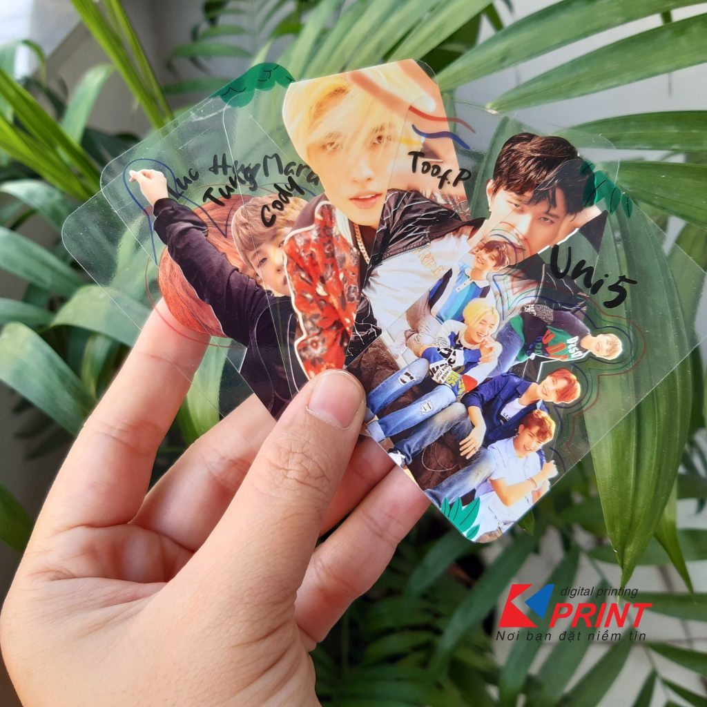 in thẻ nhựa Kpop