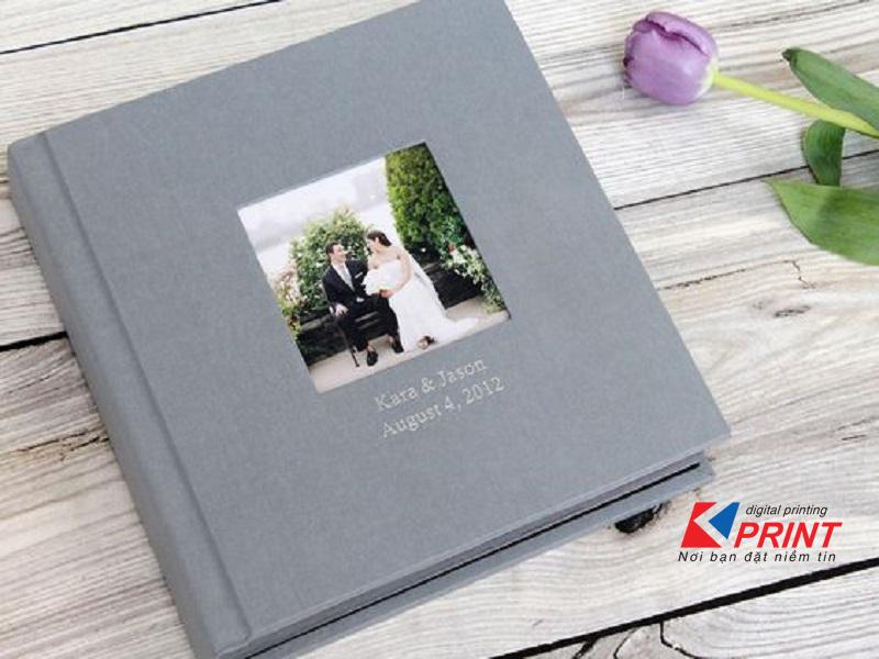 Bìa da được sử dụng phổ biến trong album cưới
