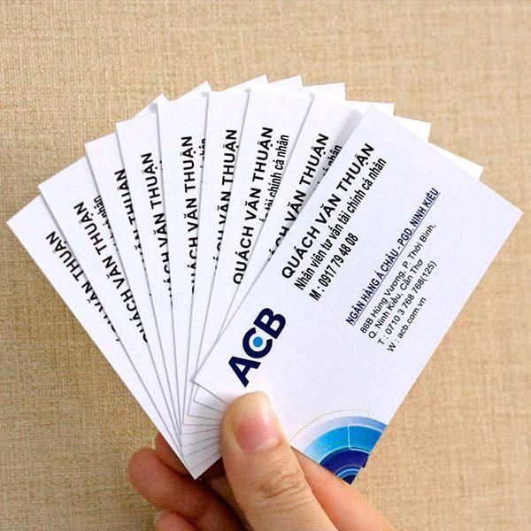 in name card chất lượng bằng giấy ford