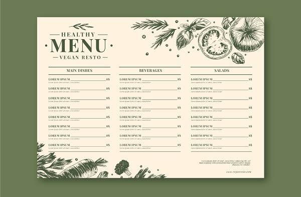 thiết kế in menu
