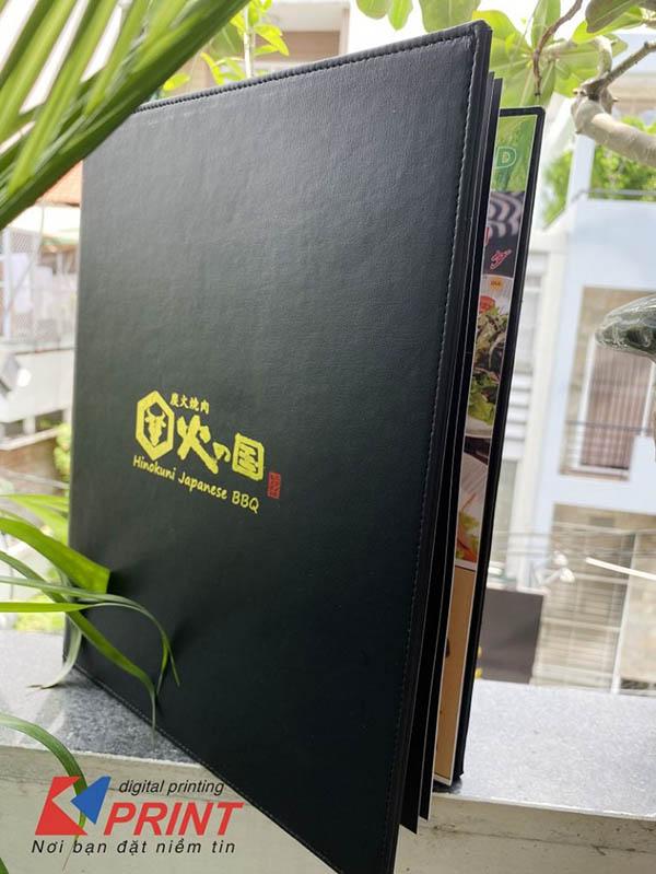 thiết kế in ấn menu